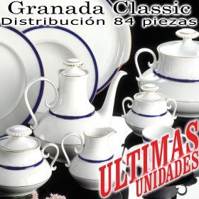 Vajilla con Juego Café 84 piezas Pontesa Santa Clara GRANADA CLASSIC