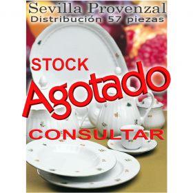 Vajilla Santa Clara 57 piezas (12 servicios) Sevilla Provenzal Flores