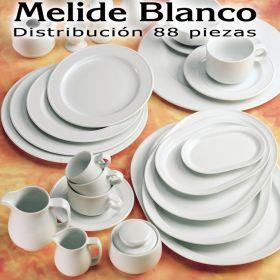 Vajilla + Café + Té + Desayuno 88 piezas Pontesa/Santa Clara Melide Blanco