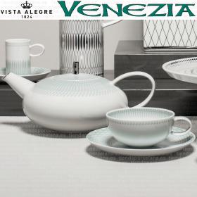 Juego de té VENECIA Vista Alegre verde