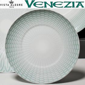 Imagen fotografía plato pan pastas verde vista alegre venecia