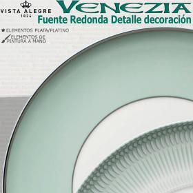 Detalle decoración Fuente Bandeja Redonda VENEZIA Vista Alegre
