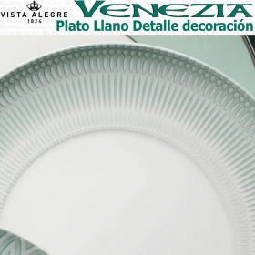 VENEZIA Plato LLano Vista Alegre decoración Verde