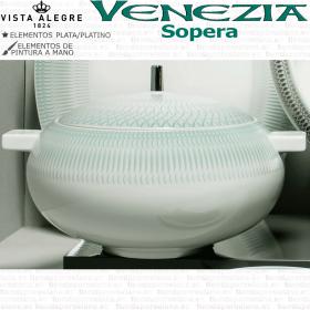 Sopera Vista Alegre Venezia Vista Alegre verde y plata