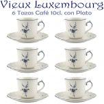 6 Tazas Café 10cl con Plato ALT VIEUX LUXEMBURG Villeroy & Boch