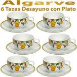 6 Tazas Desayuno con Plato Vista Alegre ALGARVE