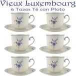 6 Tazas Té 20cl con Plato Villeroy & Boch ALT VIEUX LUXEMBURG