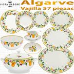 ALGARVE Vista Alegre vajilla completa 56 - 57 piezas