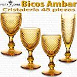 Cristalería 48 copas Vista Alegre Bicos / Picos AMBAR