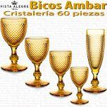 Cristalería 60 copas Vista Alegre Bicos / Picos AMBAR