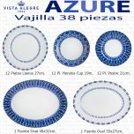 Vajilla 38 piezas Vista Alegre Azure Lux