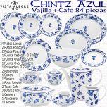 CHINTZ Vista Alegre Vajilla Vintage con Servicios de Café 84 piezas completa