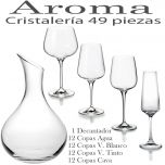 Cristalería 49 piezas (48 Copas + Decantador) Aroma Vista Alegre Atlantis