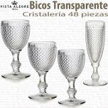 Cristalería 48 copas Bicos - Picos Transparente Vista Alegre Atlantis
