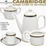 Cambridge Juego Café 12 servicios 27 piezas completo