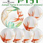 Bandeja + Platos Tarta 6 servicios (7 piezas) Vista Alegre FIJI