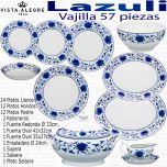 Vajilla Lazuli Vista Alegre 57 piezas Lapis Luso