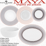 Maya Vista Alegre Vajilla 20 piezas