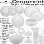 ORNAMENTS Vista Alegre colección vajilla completa con juego de café 83 - 84 piezas