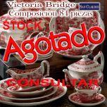 Vajilla 57 piezas Victoria Bridge San Claudio loza