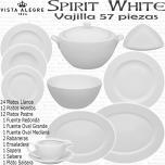 Spirit White Vajilla Vista Alegre Blanca 57 piezas