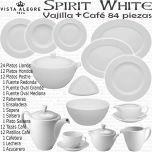Vajilla completa con servicio café 84 piezas Vista Alegre Spirit Blanco White