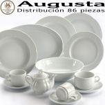 Vajilla elegante, diseño clásico y barata, todo en esta vajilla de Santa Clara Pontesa Augusta Blanca de 86 piezas
