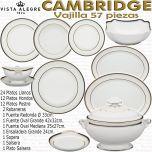 Cambridge Vista Alegre vajilla completa 56 57 piezas 12 servicios de mesa