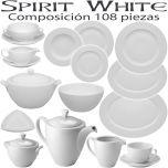 Vajilla + Café + Consomé 108 piezas Vista Alegre SPIRIT BLANCO WHITE