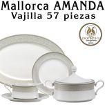 Vajilla completa Mallorca Amanda Santa Clara Pontesa 57 piezas