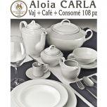 Vajilla + Café + Consomé 108 piezas Pontesa / Santa Clara Aloia CARLA
