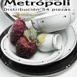 Vajilla 54 piezas Pontesa/Santa Clara Melide Metrópoli