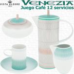 VENEZIA Vista Alegre Juego de Café 12 servicios (27 piezas)