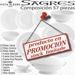 Vajilla completa 57 piezas Vista Alegre SAGRES BLANCO