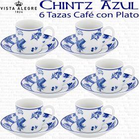 Vista Alegre Chintz pack de 6 Tazas de Café con Plato