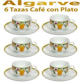 6 Tazas Café con Plato Vista Alegre ALGARVE