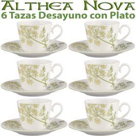 6 Tazas Desayuno con Plato Althea Nova Villeroy & Boch