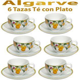 6 Tazas Té con Plato Vista Alegre ALGARVE