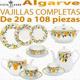 Vajillas Algarve completas desde 20 a 108 piezas Vista Alegre