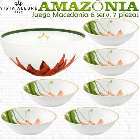 AMAZONIA Juego de Macedonia 6 servicios 27 piezas porcelana elegante Vista Alegre