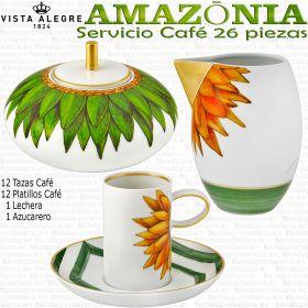 Servicios Café AMAZONIA 26 piezas Vista Alegre