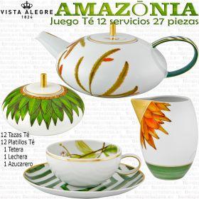 AMAZONIA Vista Alegre Juego de Café completo 12 servicios 27 piezas