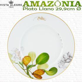 PLATO LLANO 29,9cm Ø Vista Alegre AMAZONIA piezas sueltas vajilla porcelana