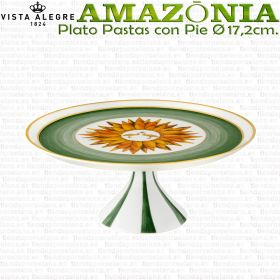 AMAZONIA Plato Pastas con Pie Pequeño Ø17,2cm. Vista Alegre