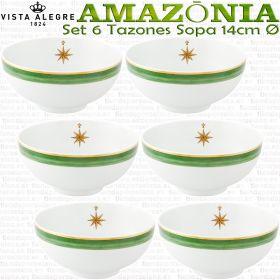 Juego 6 Tazones de Sopa - Consomé 14cm Ø Vista Alegre AMAZONIA