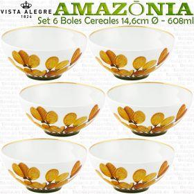 6 Boles Cereales 14,6cm Ø - 608ml Vista Alegre AMAZONIA