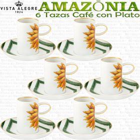 Juego 6 Tazas Café con Plato 12 piezas Vista Alegre AMAZONIA