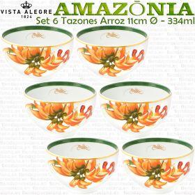 AMAZONIA Vista Alegre juego 6 Tazones Arroz 11cm Ø - 334ml