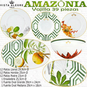 Vajilla Amazonia 39 piezas Vista Alegre