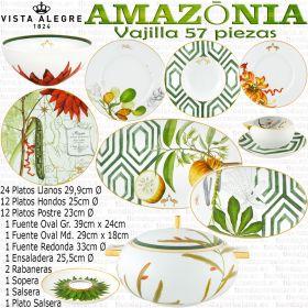 AMAZONIA Vista Alegre vajilla completa 57 piezas